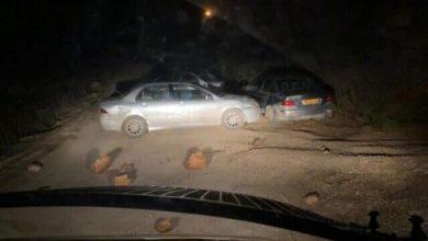 صورة إصابة شرطي حرس حدود في عملية دهس مفترضة نفذها مستوطن في بؤرة استيطانية متطرفة