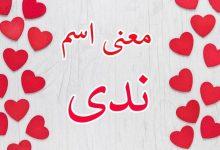 صورة صفات ومعنى اسم ندى في اللغة العربية