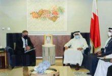 صورة وزير الخارجية يستعرض العلاقات مع سفير الاتحاد الأوروبي